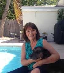 Barb with Kashmir in Florida