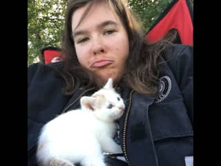 On the Standing Rock Reservation, wishing I could adopt this kitty.
