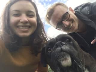 Daniel, Bruna and Fudge