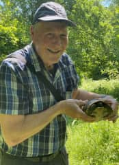Mark was particularly excited to find this little fellow on one of our walks in North Macedonia May, 2021
