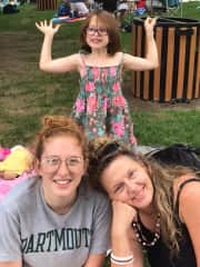 My niece, my daughter and me at the Ravinia Festival near Chicago, my summer home