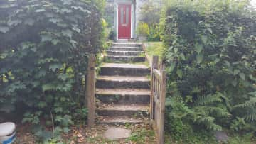 Steep steps!
