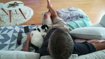 Hurricane and Adrian watching Netflix