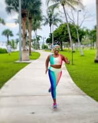 I LOVE to run - in colorful outfits, of course!