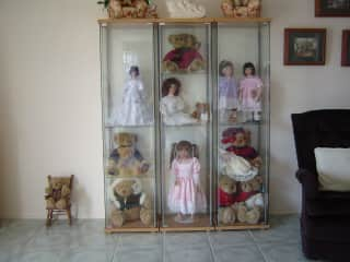 I used to make Porcelain Dolls, here are a few of my collection.