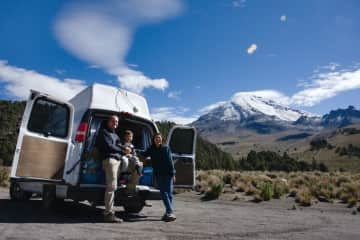 Camping at the base of Mt. Orizaba, Mexico.