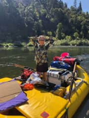 Pause from rowing down the Klamath River, July 2020.