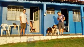 With a small friend of Rio Grande Do Sul, Brazil