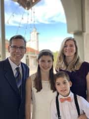 Our family - Kevin, Lauren (13), Brendan (10), & Andrea