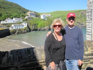 Linda & Mark in Port Isaac, Cornwall UK