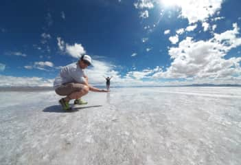We love to travel together and know the world! Salinas Grandes - Jujuy - Argentina