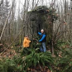 Ilene and John...ultimate tree huggers