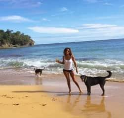 With my dog Baloo & a 3 legged dog I cared for