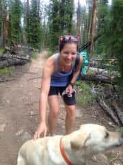 Running with Scout on the trail