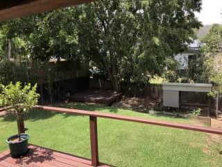 Back deck + coop