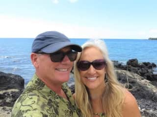 In Hawaii on a housesit...revisiting the spot where we got married.