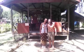 Lodge in the jungle, Borneo