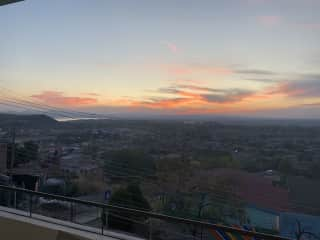 sunset view from 2nd and 3rd floors