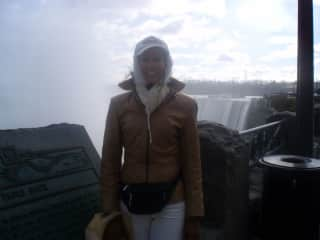 This is me enjoying a winter break by the banks of Niagara Falls, BC, in a few minus-degrees!