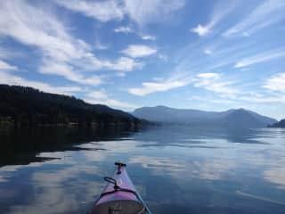 Kathryn kayaking on the Columbia River