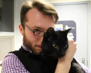 Alex with his cat