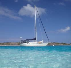 This is our Sailboat Free^d Spirit. We live onboard cruising the Bahamas and Eastern U.S.A. when we are not House/Pet sitting.