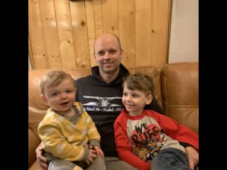 Josh with kiddos.