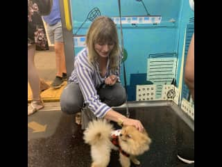 Making friends on the subway!