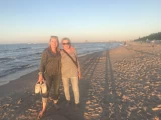 Christiane on vacation with mum