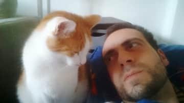 My cat Rossini and me