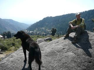Hiking in India with our village friend