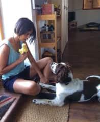 Girl talk with Frankie (Dordogne, France: June-14)