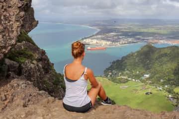 Jessy atop of Mount Manaia, Whangarei, New Zealand.