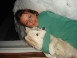 Me and Taffy, enjoying the snow