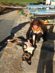 our friend from one workcamp in Switzerland, I loved this dog!