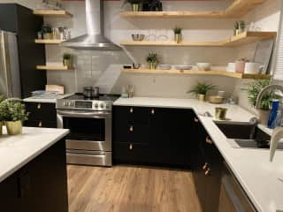 Open shelving in the kitchen— will update with better photos!