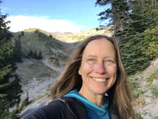 Deborah hiking the PCT