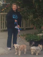 Pam, the dog walker by profession!
