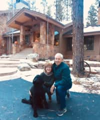 John, Doreen with the wonderful Zoey - a personal housesit in Durango, Colorado