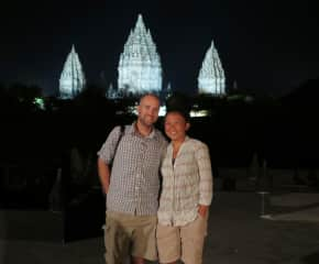 Mel and Peter in Indonesia.