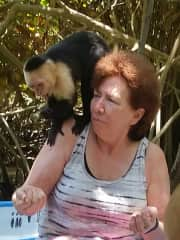 Monkey and me in Costa Rica