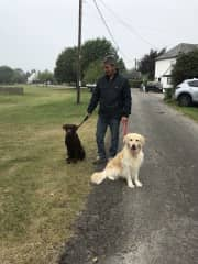 Brian and Pippin, with Shaun - September 2019