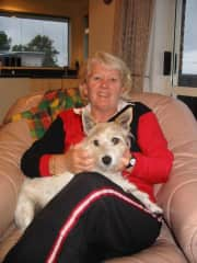 With Roxy, a Jack Russell we house-sat for 3 weeks while the owners were on holiday.