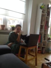 Atos in Brussels, helping Despina to study