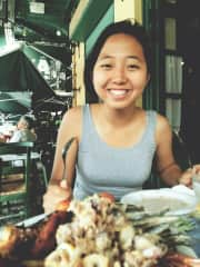 I love food and travelling! This is me in Greece with a huge seafood platter (thus the huge smile)