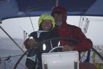 Us sailing a yacht accross the Atlantic