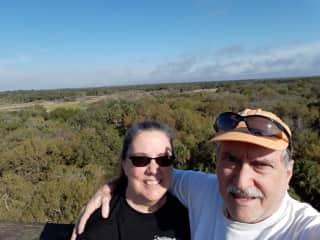 My husband, Mark, and I at Myakka State Park in Florida.