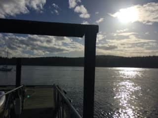 Our dock looking onto North Saanich