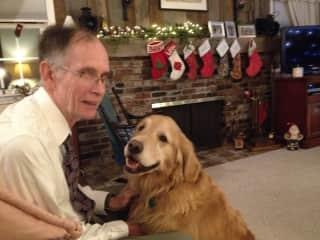 Gary and Balsam, our Golden Retriever