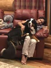 Hesper- my prior Housesit dog and me!